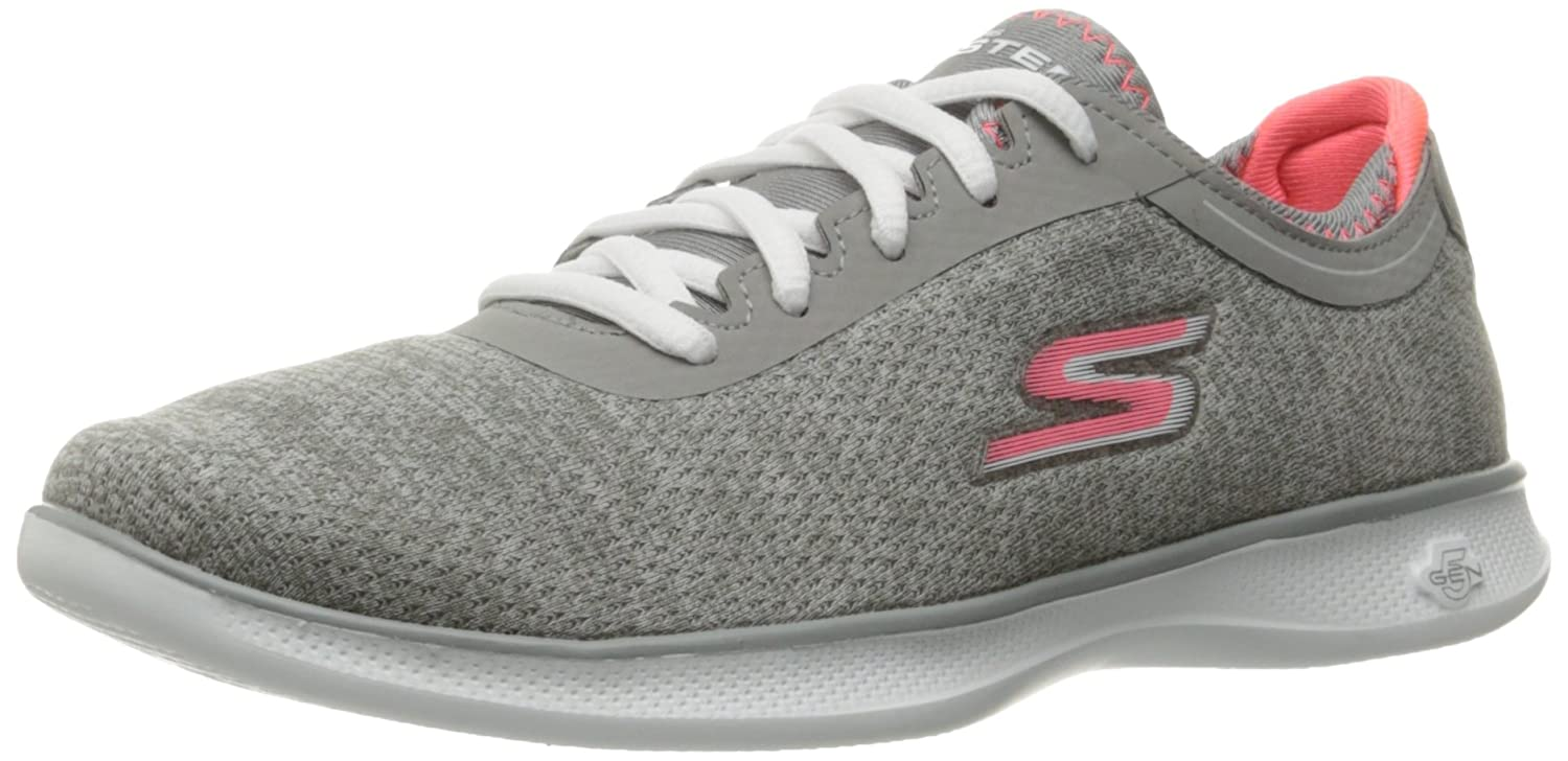 Skechers Performance Women's Go Step Lite-Agile Walking Shoe B01IIBDX38 6 B(M) US|Gray/Pink
