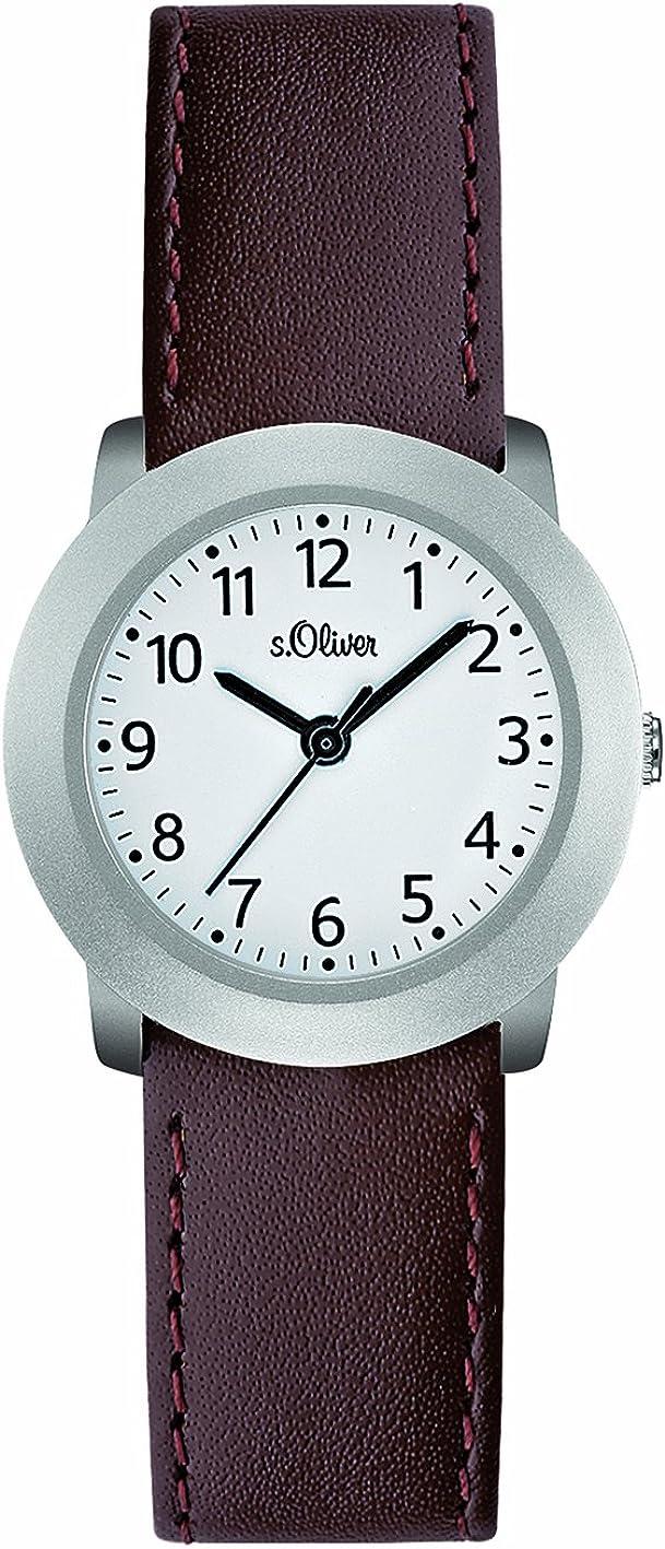 s.Oliver SO-2102-LQ - Reloj de Mujer de Cuarzo, Correa de Acero Inoxidable Color marrón