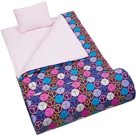 TL 2 piezas para niñas rosa Hippy Peace Saco de dormir estampado, hippie bohemio amor