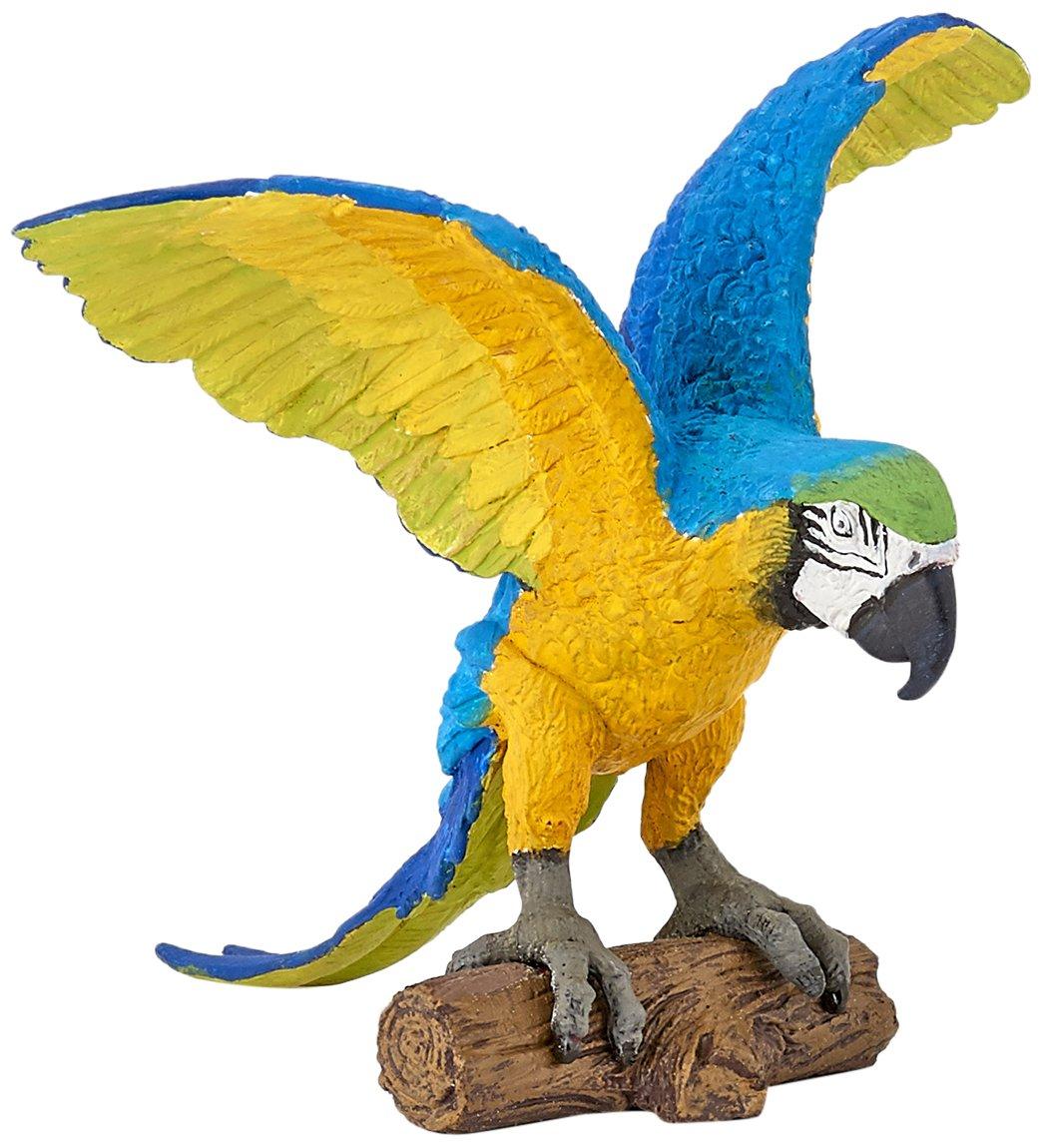 Multicolor Papo Blue Ara Parrot Figure