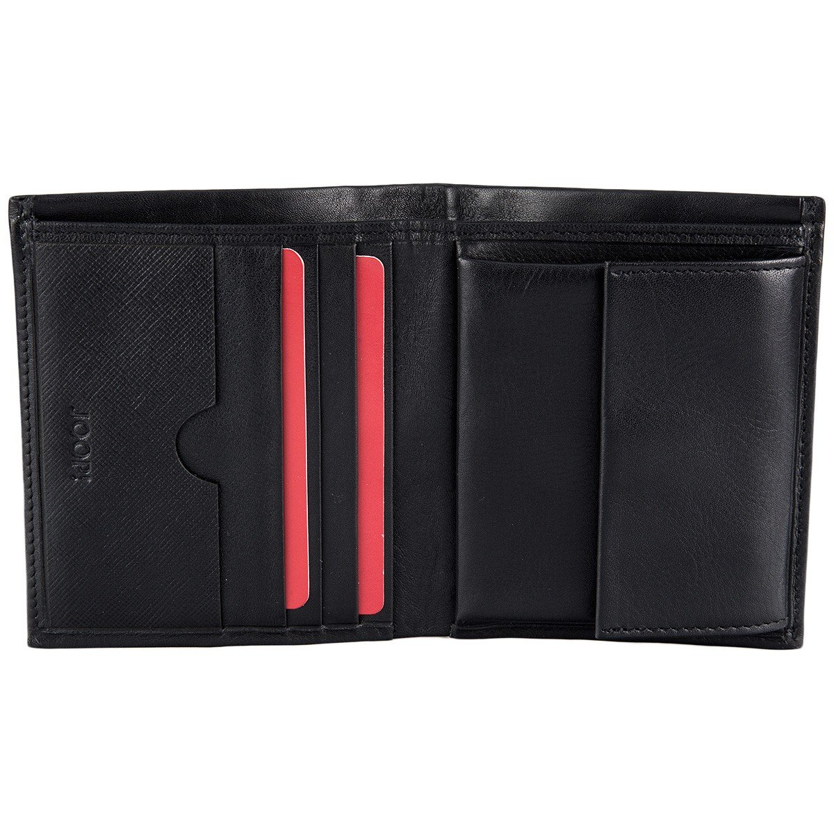 Billetera para hombre, cuero genuino, Pero Daphnis Billfold V6 9x10,5x2cm - Negro: Clothing