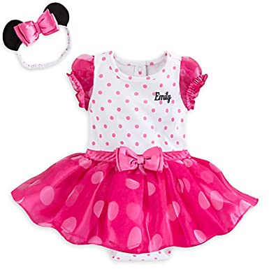 95e77fda8 Amazon.com: Disney Store Pink Polka Dot Minnie Mouse Baby Girls ...