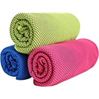 """MAIBU 3-Pack Sports Cooling Towel Outdoor Cool Towel Travel Towel 39.37"""" Length"""