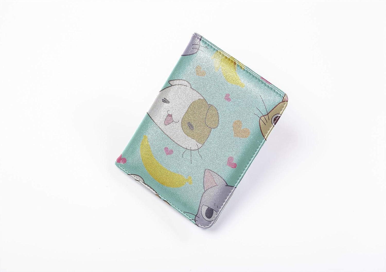 Boys Passport Case Cute Small Warm Animal Pet Cat Heart Us Passport Cover Plastic Multi Purpose Print Colorful Passport Cover Travel Wallets For Unisex 5.51x4.37 Inch