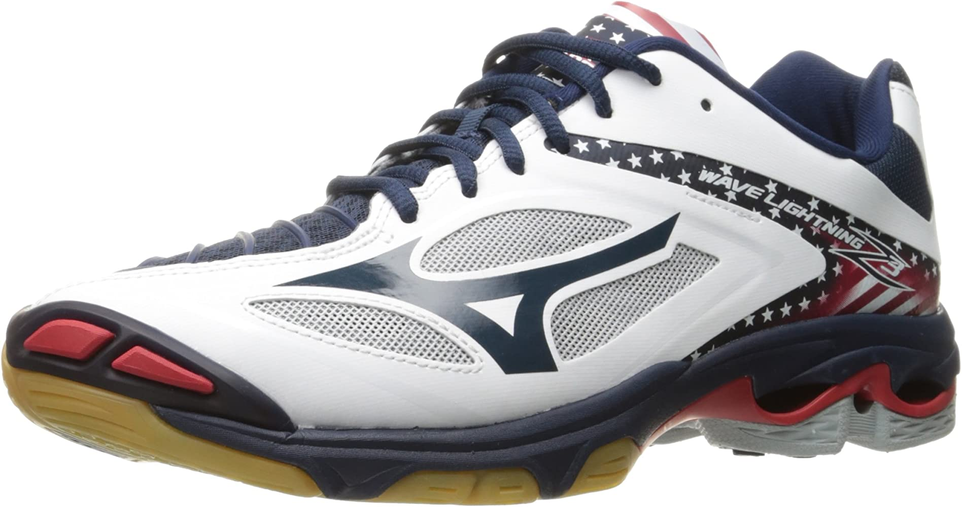 Mareo cero águila  Amazon.com | Mizuno Wave Lightning Z3 Mens Volleyball Shoes, Stars/Stripes,  10.5 D US | Basketball