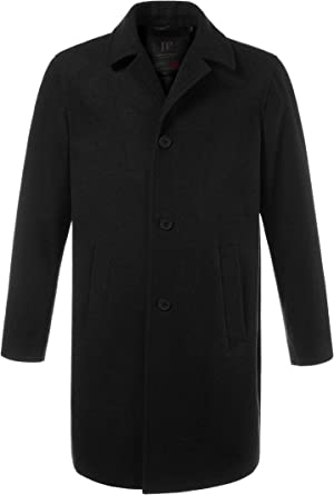 JP 1880 Mens Big /& Tall Long Line Smart Overcoat 705472