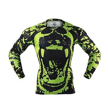 M.Baxter Camiseta de running - Hombre de manga corta para hombre con cuello redondo ropa deportiva (A, M): Amazon.es: Deportes y aire libre