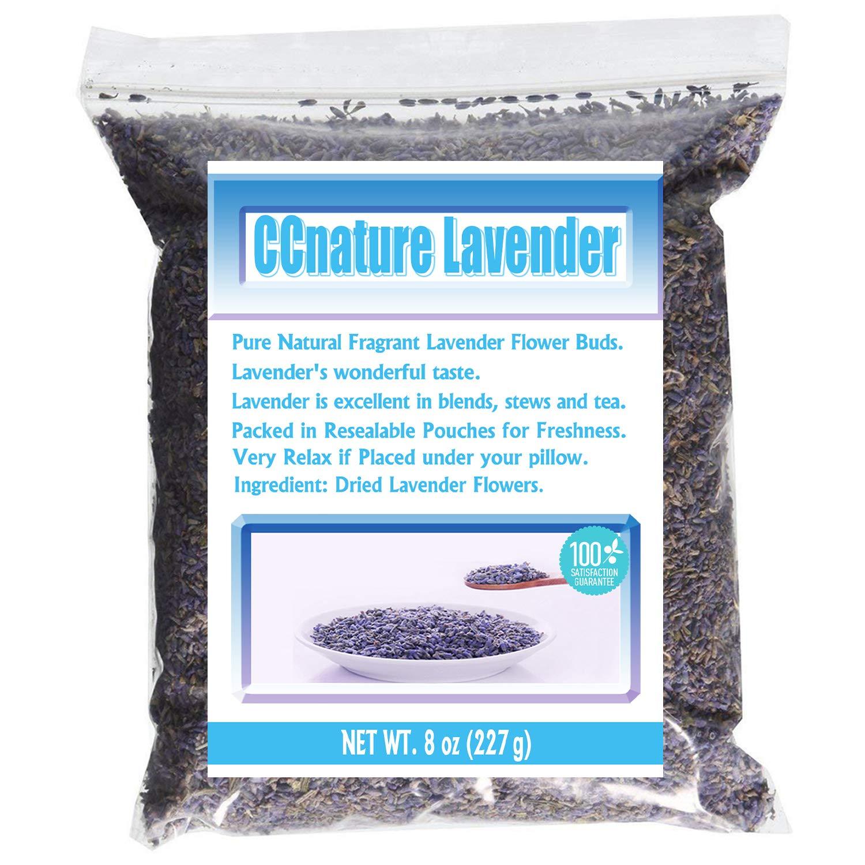 CCnature Lavender Flowers Dried Lavender Buds Culinary Grade 8oz