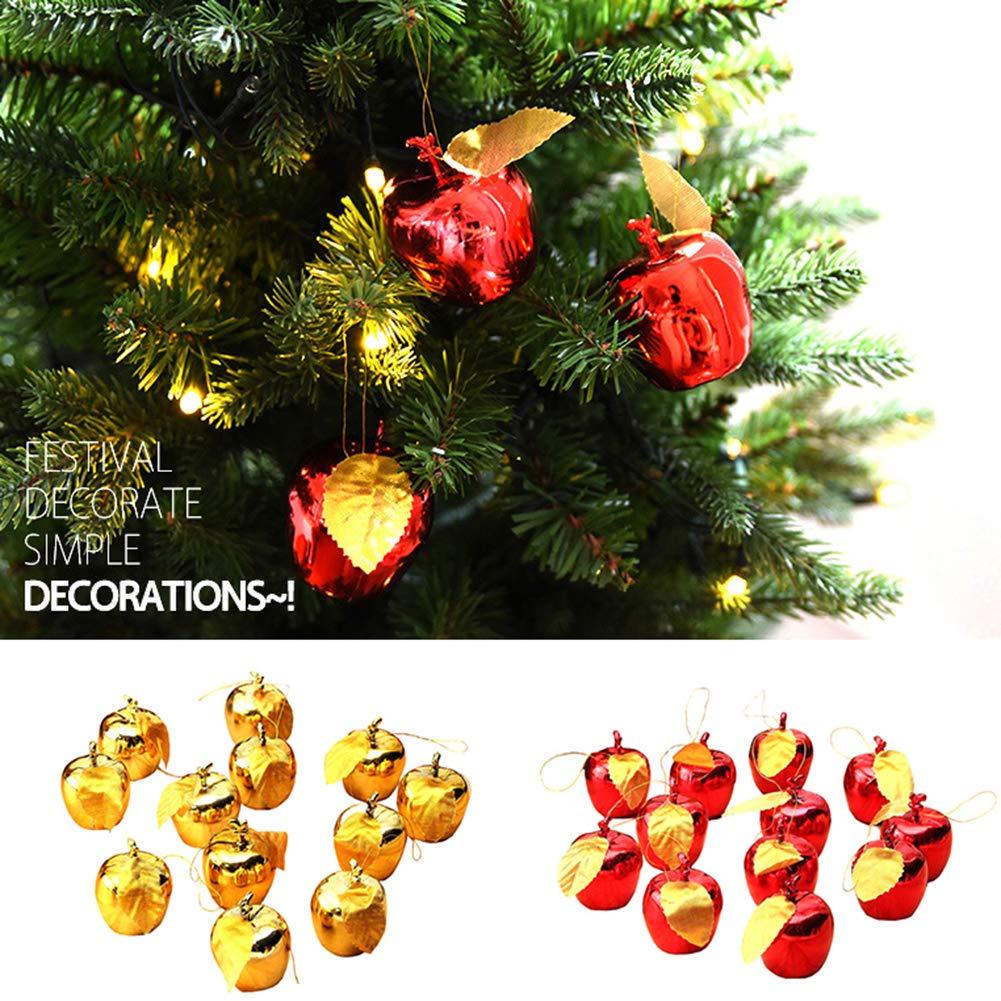 NAttnJf 12pcs Navidad Adornos Colgantes de Manzana /árbol de Navidad Ventana escaparate decoraci/ón del Partido Rojo