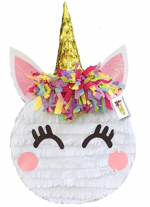 Amazoncom Apinata4u Pequeñas Unicornio Piñata Diseño De