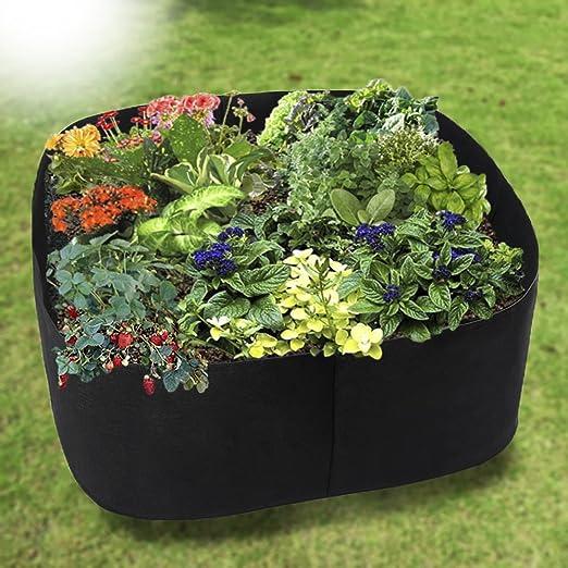 Uthome - Cama elevada de tela para jardín, bolsa elevada, macetas para plantar jardín, macetas de tela, camas elevadas, bolsas de cultivo para plantas – todos los tamaños, A: Amazon.es: Jardín