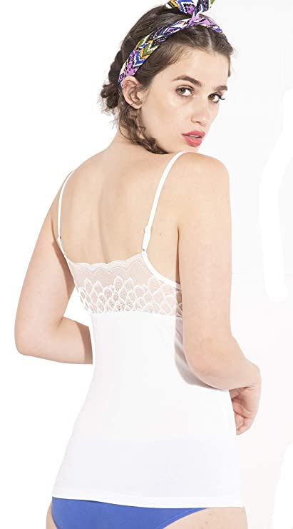 Tiara Lace Cups V-Neck Camisole  37a224771