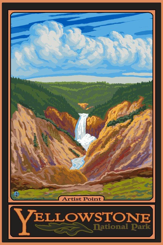アーティストポイント – イエローストーン国立公園 16 x 24 Giclee Print LANT-8798-16x24 B00N5CNN04 16 x 24 Giclee Print16 x 24 Giclee Print