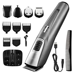 ATMOKO Beard Trimmers for Men Beard Groomer Cordless Grooming Kit with Mustache Trimmers Hair Trimmer for Nose Ear Facial Hair USB Rechargeable Washable