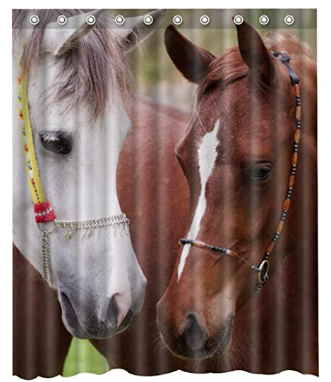 3d Horse Shower Curtain 66quot