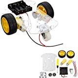 INSMA Motor Smart Robot Car Chassis Kit Speed Encoder Battery Box For Arduino DIY