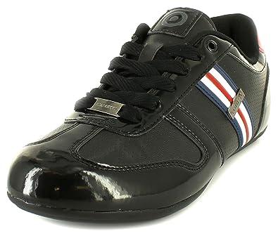 43972cf5f23 New Mens Gents Black Lambretta Rio Low Profile Lace Up Fashion Shoes - Blk