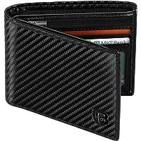 Cartera Hombre, BIAL RFID Clásico Cuero Billetera Hombre Piel, con 8 Ranuras para Tarjetas De Crédito 2 Ventanas De…