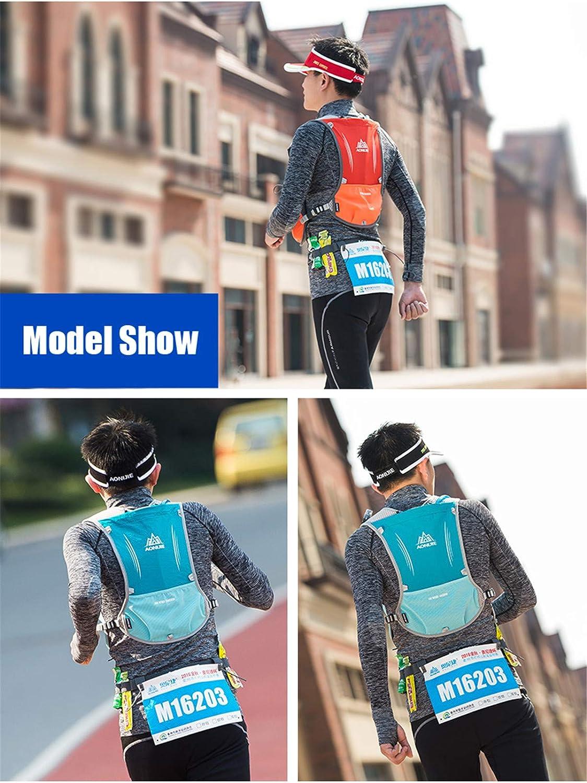Win.Deeper Profesional Hombre Mujer 5L Chaleco de Hidrataci/ón Ligero Superior Mochila para Trail Running Ciclismo