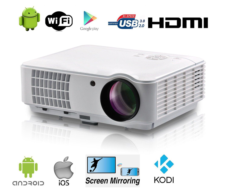 Full HD proyector de vídeo wifi inalámbrico Android inteligente de ...