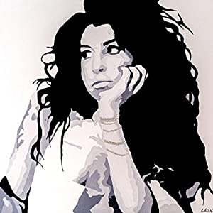 Buyartforless Searching by PopArtQueen 12x12 Art Print Poster Wall Decor Pop Art Poster Amy Winehouse Tribute Piece Poster Pop Art Beautiful Woman Singer Artist