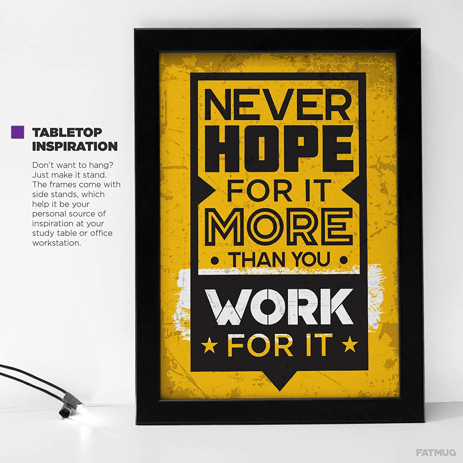 Fatmug Motivational Posters With Frames For Office Desk, Home And ...