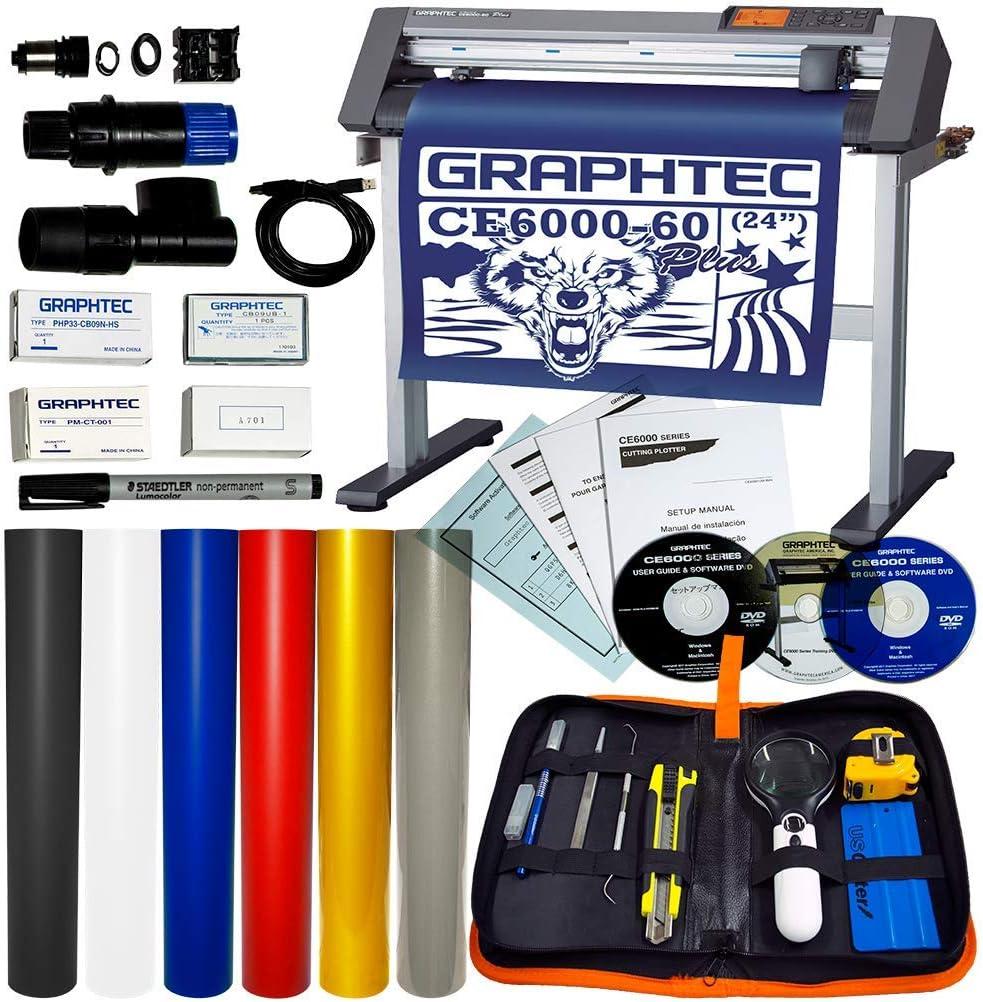 Graphtec CE6000-60 Plus - Juego de Cortador de Vinilo (61 cm, 6 Colores): Amazon.es: Juguetes y juegos