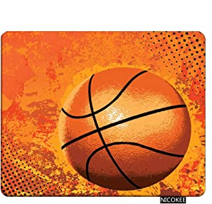 NICOKEE Sports Rectangle Gaming Mousepad Sports Basketball Mouse Pad Mouse Mat for Computer Desk Laptop Office 9.5 X 7.9 Inch Non-Slip Rubber