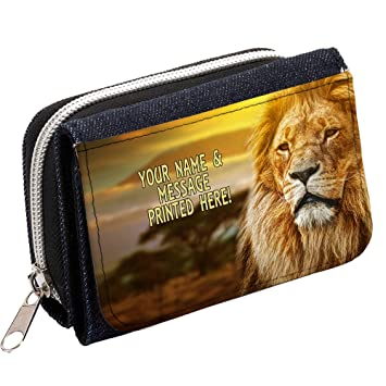 Personalizado el rey León st335 Mujer Denim Bolso Niñas Cartera de regalo * * Añade un nombre * *: Amazon.es: Equipaje