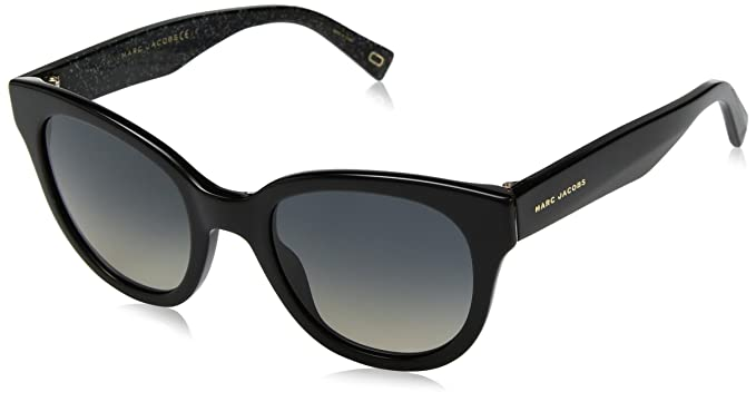 e74fbab10cf Image Unavailable. Image not available for. Color  Marc Jacobs Women s  Marc231s Polarized Cateye Sunglasses BK GLITTR 50 mm