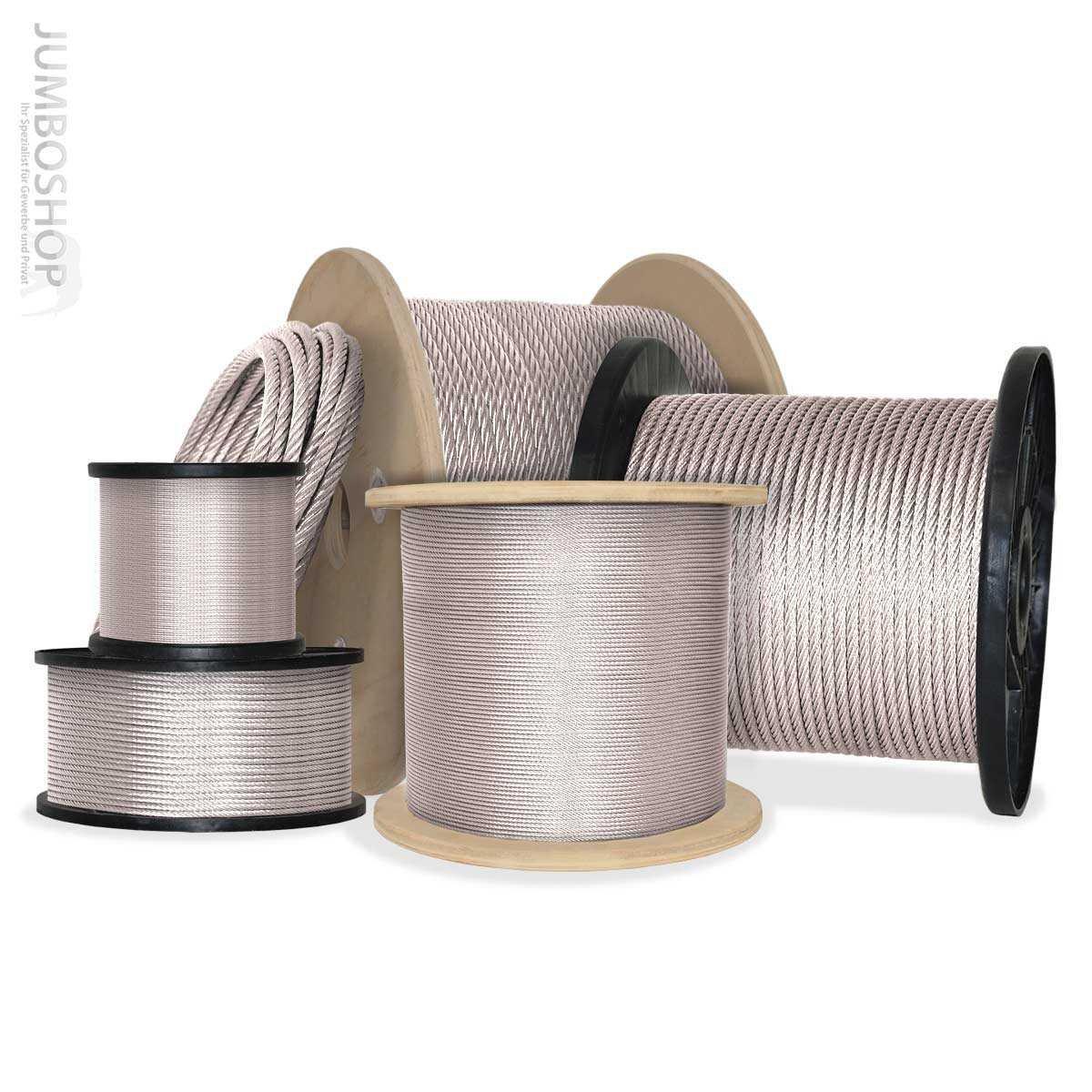 Seilwerk STANKE Gummiseil Expanderseil Schwarz 4 mm 100 Meter Gummileine Spannseil Planenseil Gummischnur
