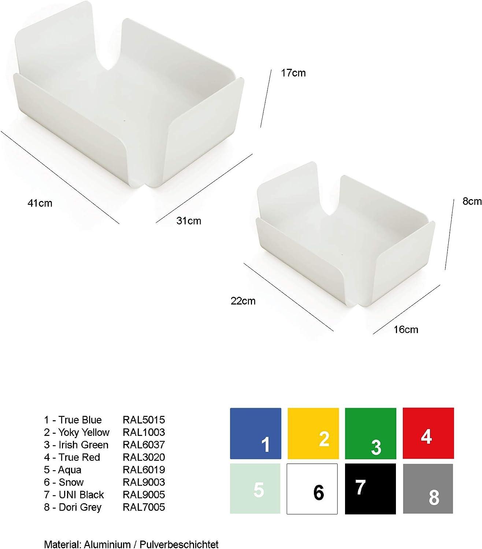 Zeitloses Design Schon jetzt EIN Klassiker TEBTON UNIBODY1 Blau, Small formsch/öne Schale zu verwenden als Dekoschale oder Obstschale