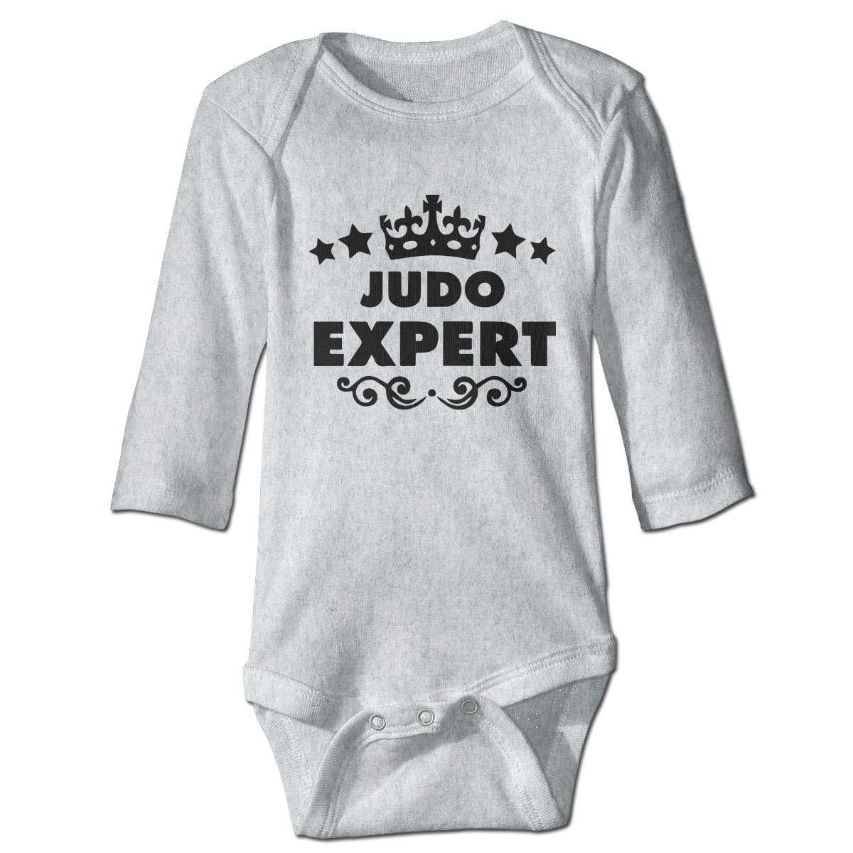 A14UBP Newborn Infant Baby Girls Boys Romper Bodysuit Infant Judo Expert Long Sleeve Funny Jumpsuit Romper