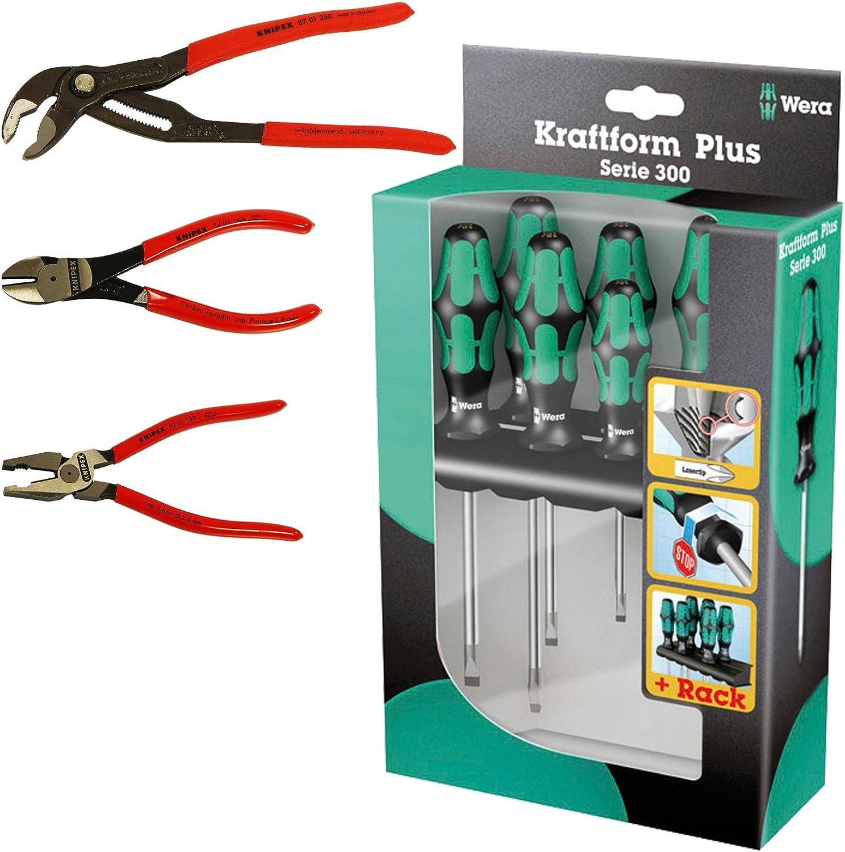 Wera 334//6 05105650001 Jeu de tournevis Kraftform Plus Lasertip avec Rack 6 pi/èces