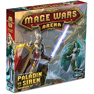 Mage Wars Arena: Paladin vs Siren Expansion Board Game: Toys & Games