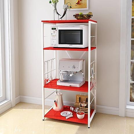 Perfect Kitchen Racks Shelves Electrical Shelves Microwave Shelf Oven Rack Floor  Storage Finishing 4 Layers 6040122cm (