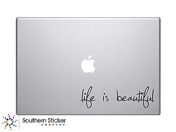 La vida es bella texto silueta símbolo de Macbook Teclado iPhone Apple iPad Skin para portátil
