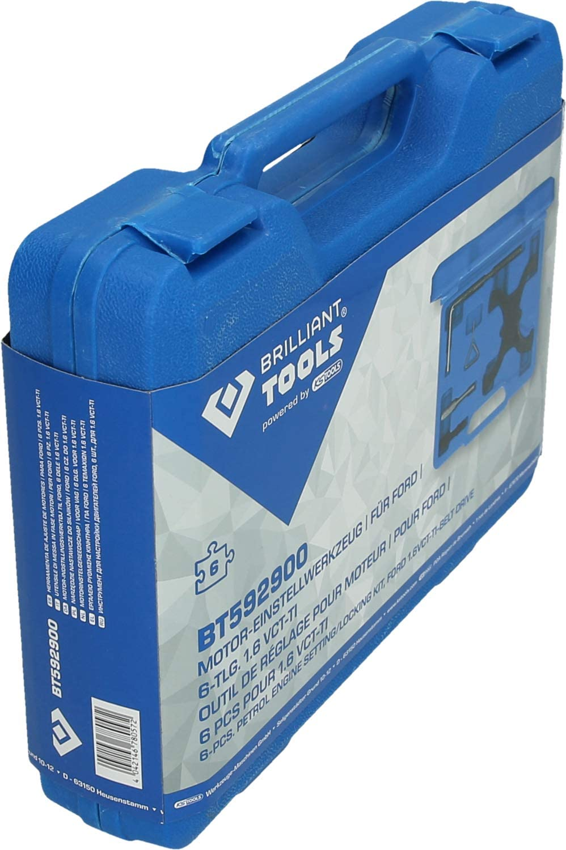 1.6 VCT-TI Kit doutils de r/églage du Moteur Brilliant Tools Brilliant BT592900 Ford 6-TLG Bleu//Noir