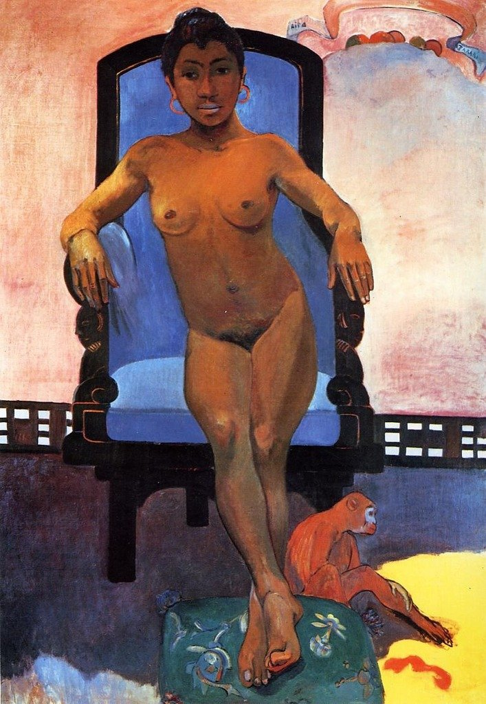 Gauguin Paul Portrait of Annah the Javanese 100% Hand Painted Oil Paintings Reproductions 12X16 Inch