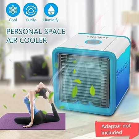 Mini aire acondicionado ventilador, USB climática dispositivo 3 en ...
