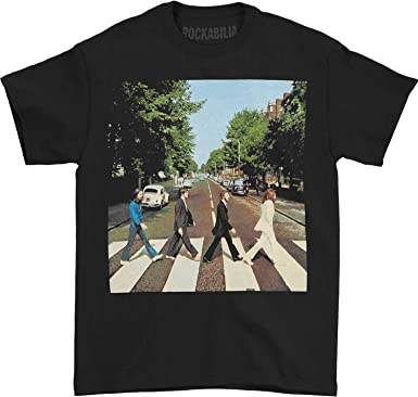 THE BEATLES Abbey Road Logo Mens T Shirt Unisex Tee Official Licensed Band Merch