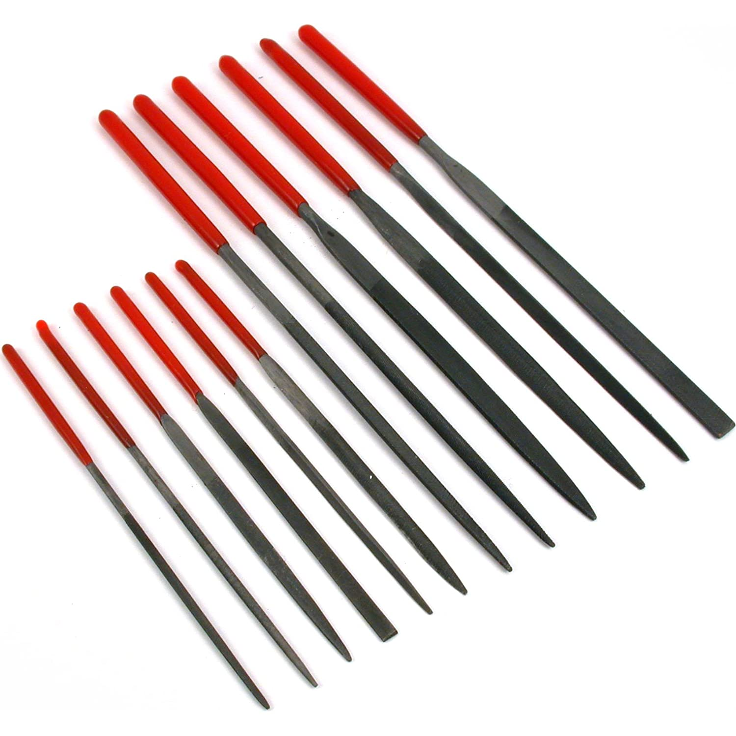 Needle File Set 6 x 100mm//6 x 140mm SE 734NF by SE Dipped Handles