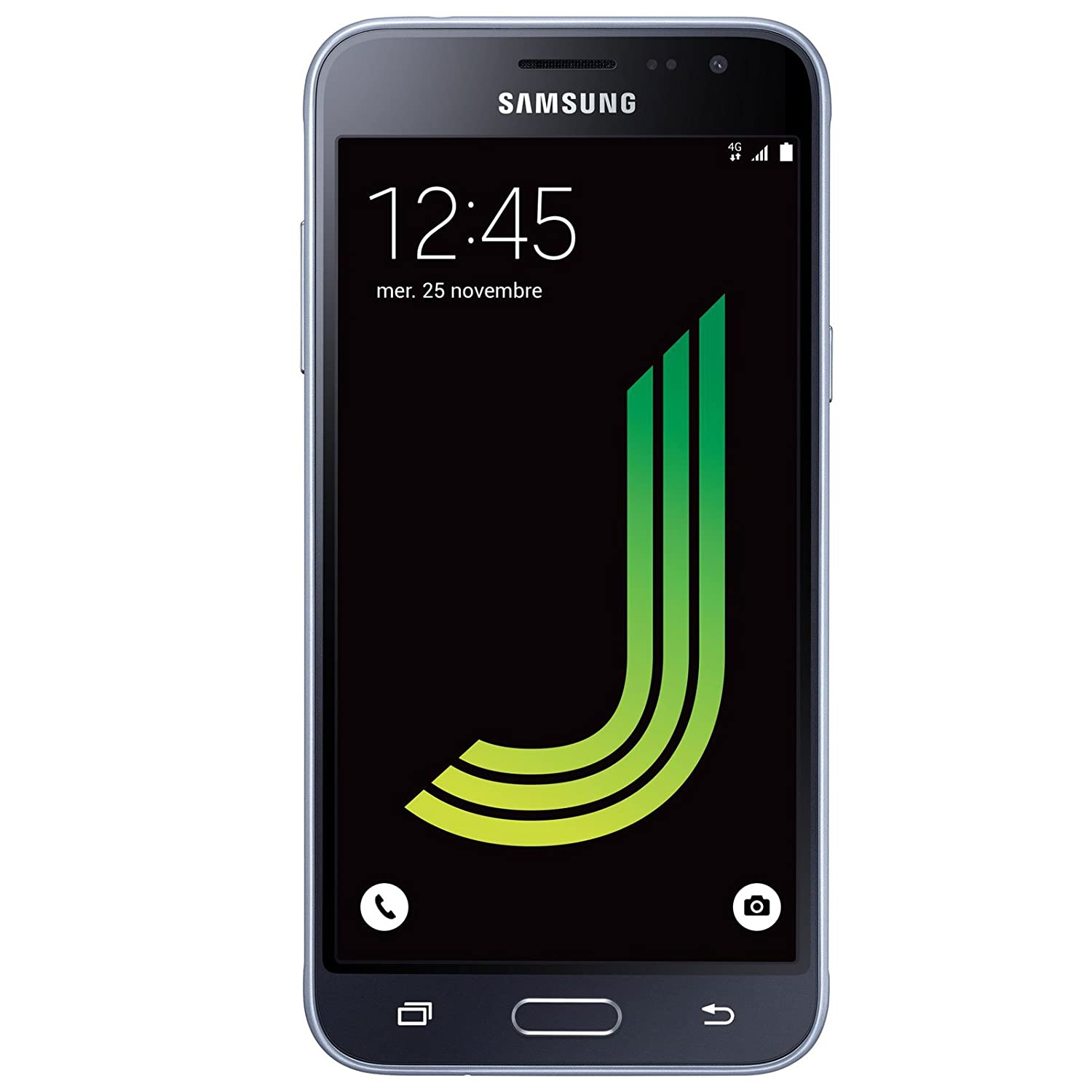 "Samsung Galaxy J3 SM-J320F Dual SIM 4G 8GB Black - smartphones (12.7 cm (5""), 1.5 GB, 8 GB, 8 MP, Android, Black)"