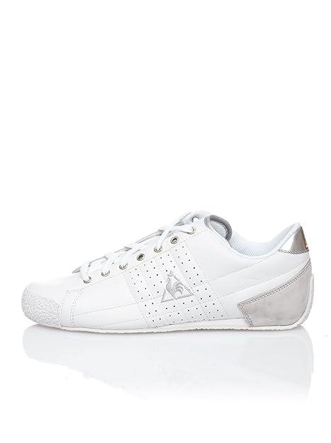 Le Coq Sportif Zapatillas Retro Sport Escrime Lea Blanco/Plata 41: Amazon.es: Zapatos y complementos
