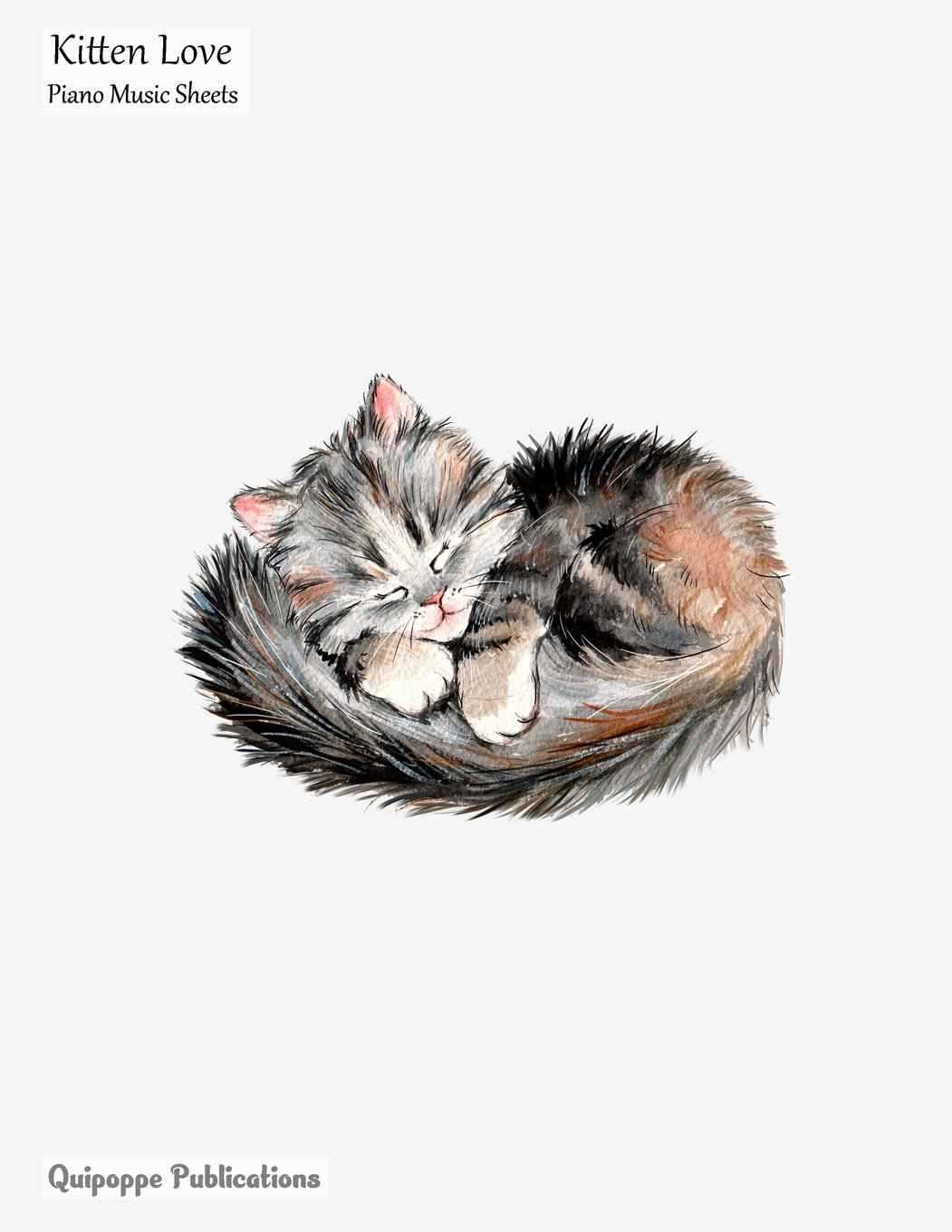 Download Kitten Love Piano Music Sheets: Large Music Notation and Songwriting Notebook For Piano Players With Kitten Love Lovely Sleeping Kitten Cover ebook