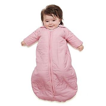baby deedee Sleep Nest Travel Quilted Baby Sleeping Bag Sack with Sleeves,  Sugar Puff, Medium