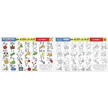 Amazon.com: Melissa & Doug Alphabet Write-A-Mat Puzzle (6 Pieces ...