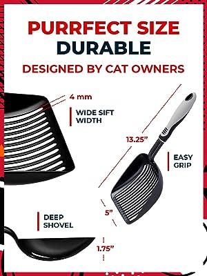 IPRIMIO Cat Litter Scooper with Deep Shovel