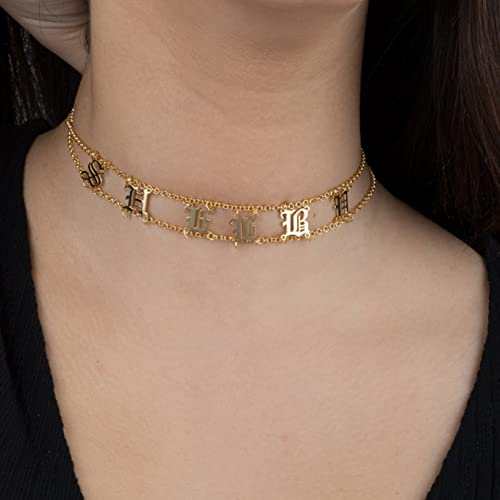 7d834aaac744b Amazon.com: Choker Necklace - Personalized Choker Necklace - Custom ...