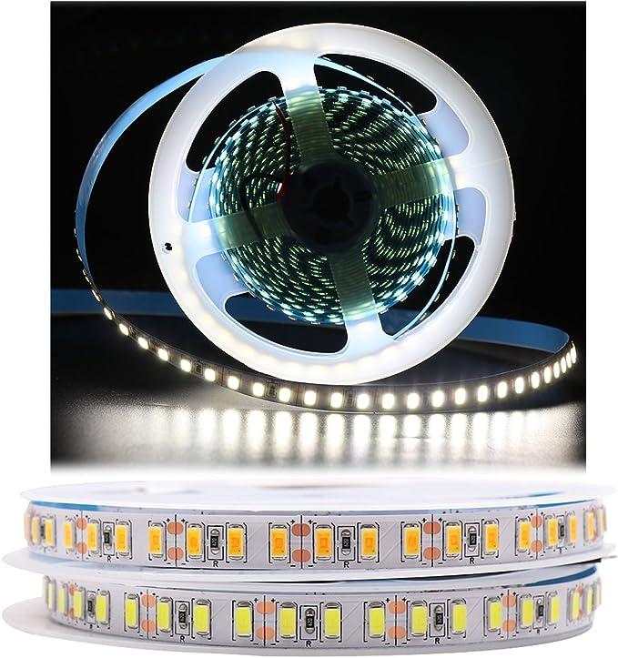 1m flex 6000k IP66 Super Slim 6mm LED Streifen//Strip 120x SMDs//m kalt-weiß